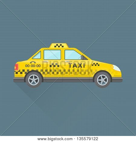 Taxi Cab Service Car Illustration.