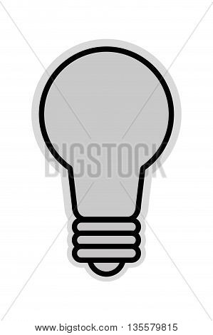 flat design of grey lightbulb icon vector illustration