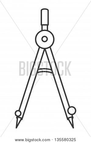 line design grey drawing compass vector illustration