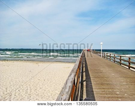 Pier Of Scharbeutz, Baltic Sea, Germany