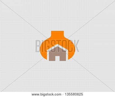 House repair service tool shop sign logotype. Creative idea wrench home icon vector creative mechanic symbol logo icon symbol.