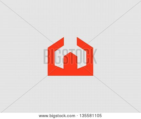 House repair service tool shop sign logotype. Creative idea wrench home icon vector creative mechanic symbol logo icon. Negative space symbol.