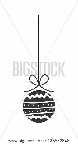 Merry Christmas represented by sphere icon over isolated and flat background