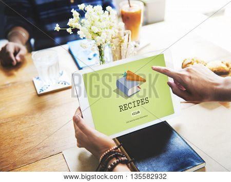 Recipes Food Menu Cafe Restaurant Concept