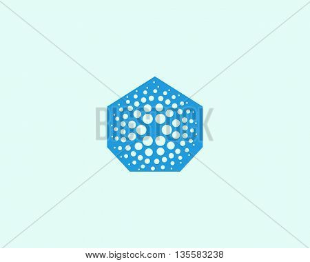 Abstract house logo design template. Universal energy tech home smart air water vector icon.