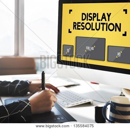 Display Resolution Screen Modern Technology Concept