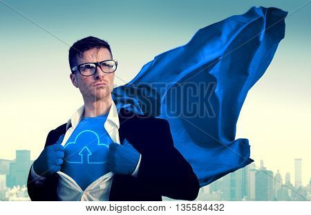 Cloud Computing Network Download Information Concept