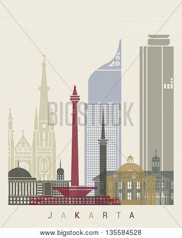 Jakarta Skyline Poster