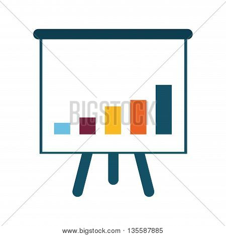 Infographic represented by presentations bars over isolated and flat background