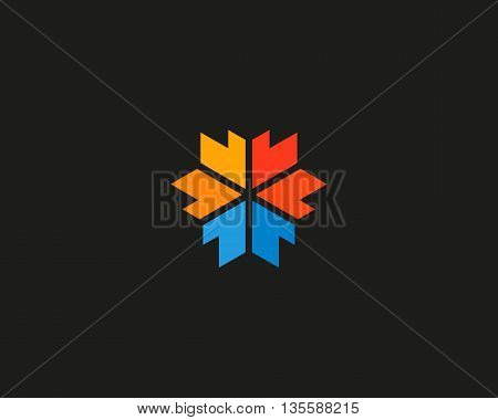 Abstract arrow media logotype. 3d edge sign. Logistic vector symbol