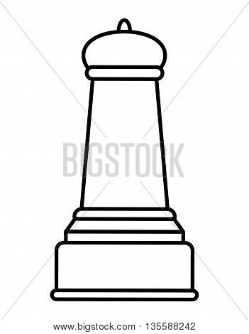 Chess represented by piece icon over isolated and flat background