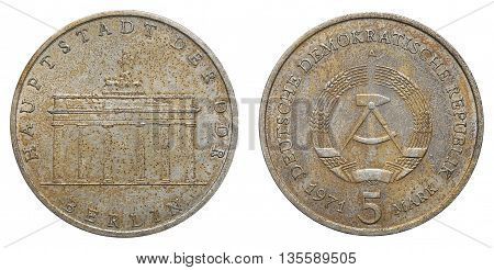 Commemorative Coin Of The German Democratic Republic With Inscription - Capitol Of Gdr - Berlin
