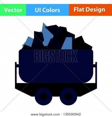 Mine Coal Trolley Icon