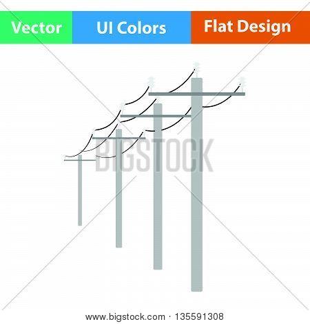 High Voltage Line Icon