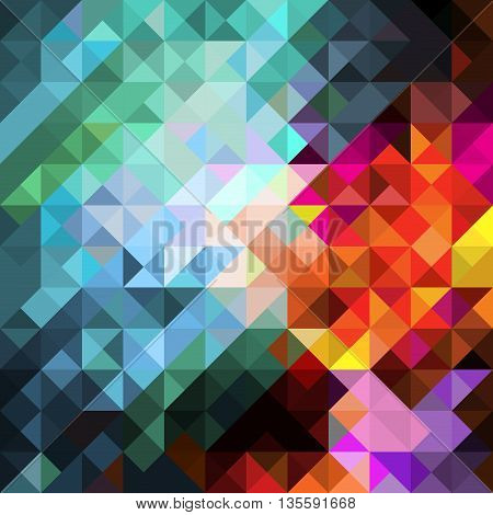 Vector modern colorful rectangular abstract mosaic background with color splash effect, for design projects, backdrops, book cover, wallpapers template for cards, web design mock up