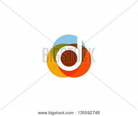 Color letter d logo icon vector design