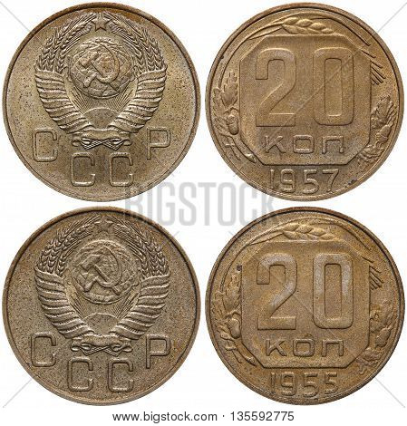 20 Kopek Coin Formerly Used In The Soviet Union