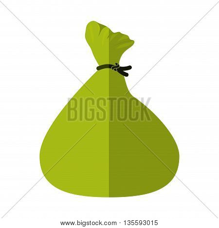 Money and financial item represented by money bag icon over isolated and flat background
