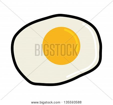 Organic and healthy food represented by egg menu over isolated and flat background