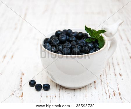 Cup With Blueberries