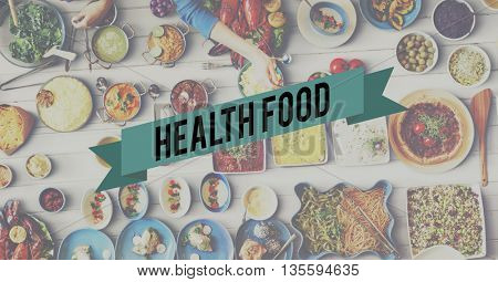 Healthfood Eating Party Celebration Concept
