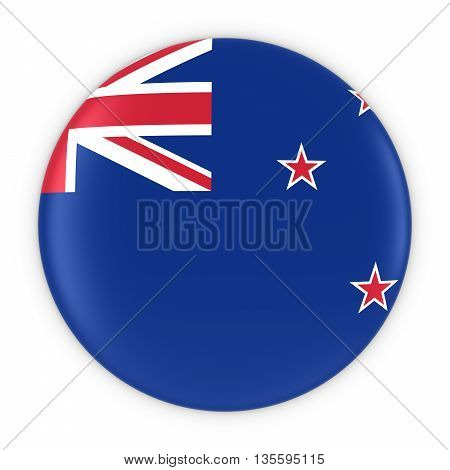 New Zealand Flag Button - Flag Of Wales New Zealand 3D Illustration