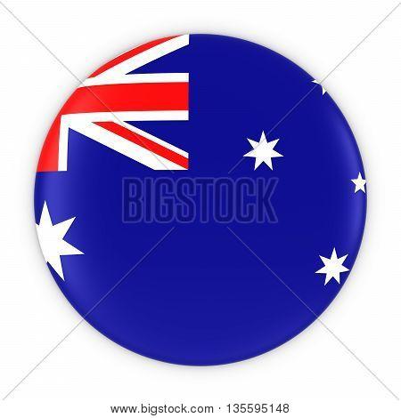 Australian Flag Button - Flag Of Australia Badge 3D Illustration
