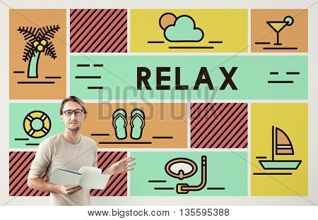 Relax Calm Chill Happiness Life Resting Vacation Concept