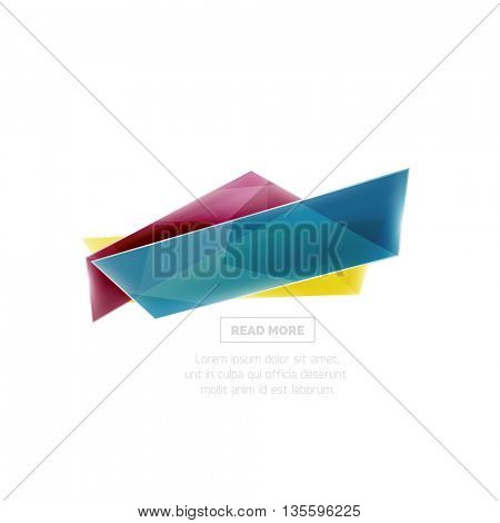Website banner on white with sample text. Button with your promo text, sale symbol