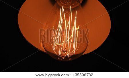 Red retro exotic lamp. 35 Wats lamp