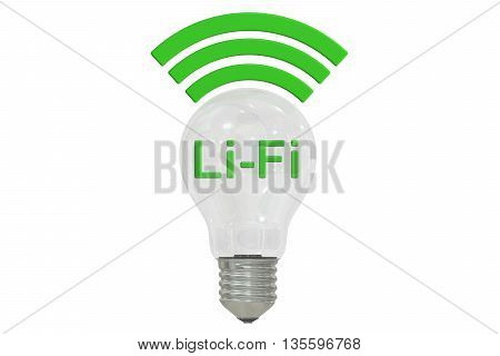 Li-Fi concept 3D rendering isolated on white background