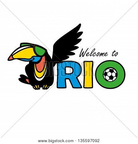 Welcome to Rio, vector illustration  in white background