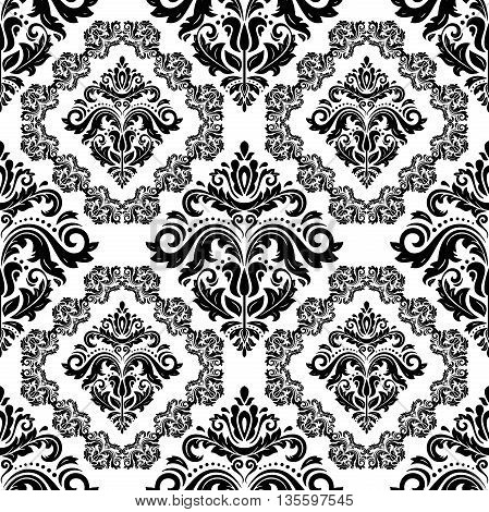 Oriental vector classic pattern. Seamless abstract background with repeating elements. Black and white pattern
