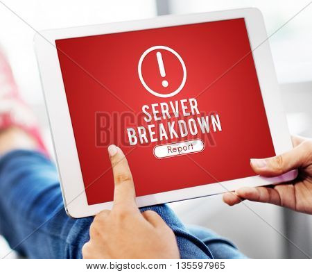 Server Breakdown Network Problem Technology Software Concept