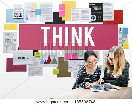 Think Thinking Vision Inspiration Concept