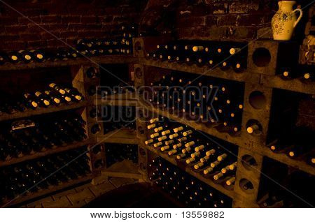 Vintage Bottles Of High Quality Wine