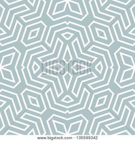 Geometric abstract vector background. Seamless modern pattern. Blue and white pattern