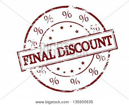 Rubber stamp with text final discount inside vector illustration