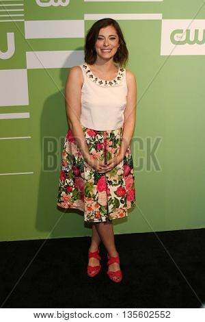 NEW YORK, NY - MAY 14: Actress Rachel Bloom attends the 2015 CW Network Upfront Presentation at the London Hotel on May 14, 2015 in New York City.