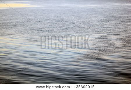 The blue water of the Baltic Sea