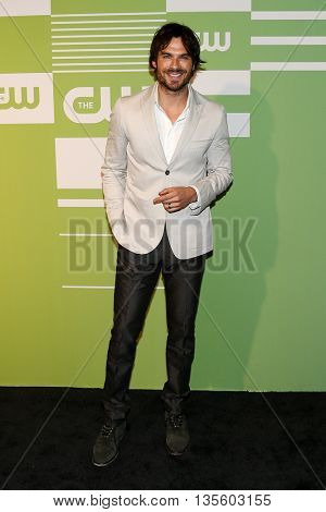 NEW YORK, NY - MAY 14: Actor Ian Somerhalder attends the 2015 CW Network Upfront Presentation at the London Hotel on May 14, 2015 in New York City.