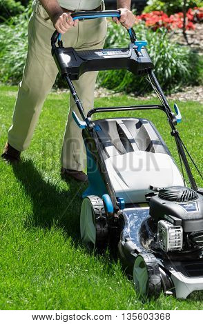 Fast Way Of Mowing The Grass