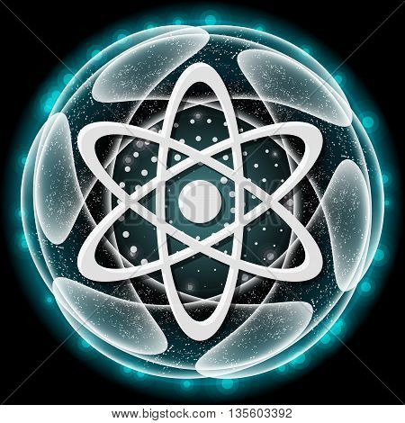 Vector abstract object and icon of science