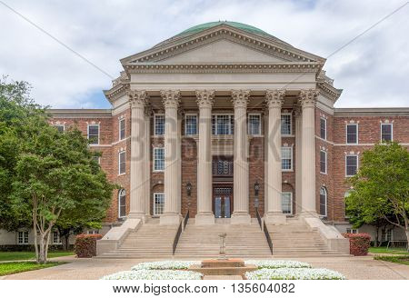 Dallas Hall On The Campus Of Southern Methodist University