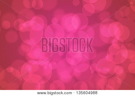 Colourful Abstract Bokeh Design On A Black Background