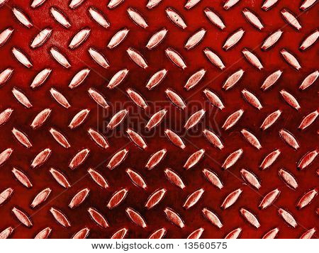 Diamond Red Toned Metal Background Texture Illuminated By Sunlight