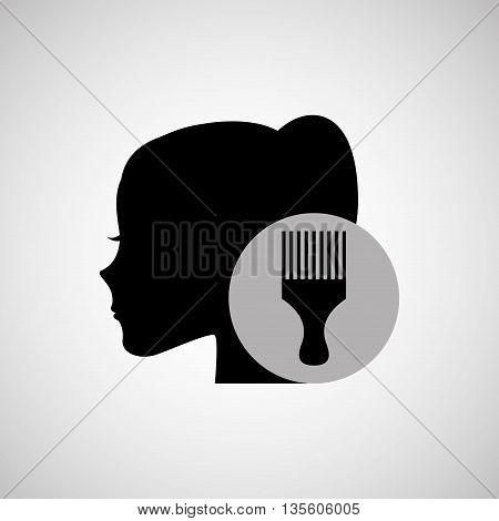 hairdressing salon design, vector illustration eps10 graphic