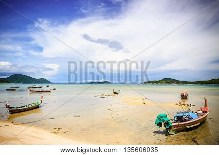 Long-tail boats at Rawai beach, Phuket, southern Thailand