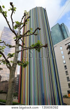 PARIS, FRANCE - MAY 15, 2015: It is an area of modern high-rise office buildings and architectural plan which is called La Defanse.