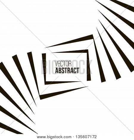 Geometric Vector Black and White Background. Architecture and Construction or Library Concept. Avant-Garde Style